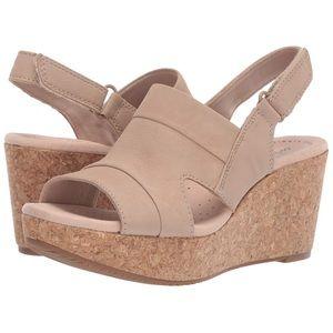 Clarks Women's Annadel Ivory Wedge Sandal new!